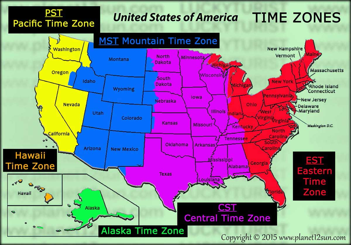 USA time zones
