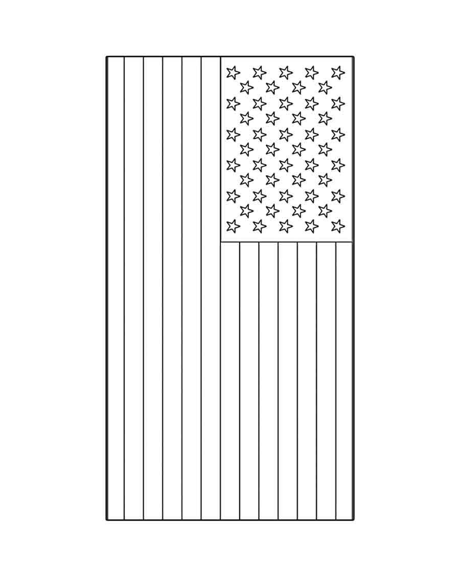 Free printables for kids for American flag coloring page for first grade
