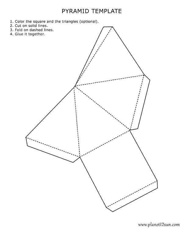3d square template printable